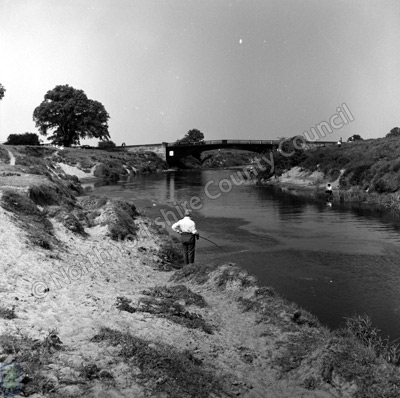 Fishing, River Swale, Thornton Bridge